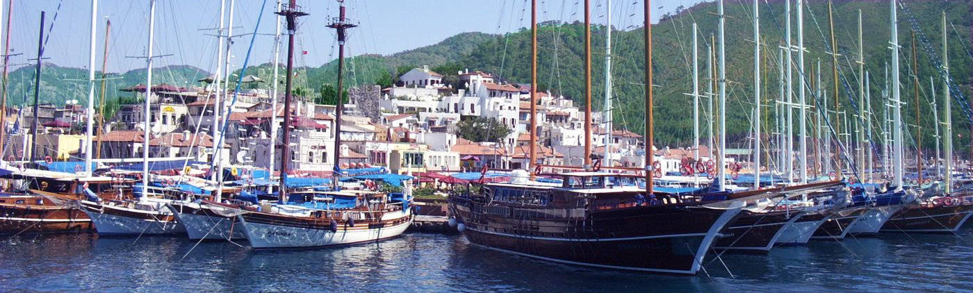 Marmaris, restaurants, castle and gulets
